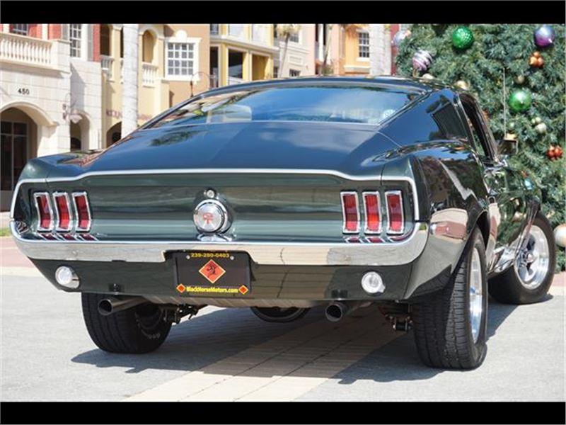1968 ford mustang bullitt for sale gc 28106 gocars for Black horse motors naples fl