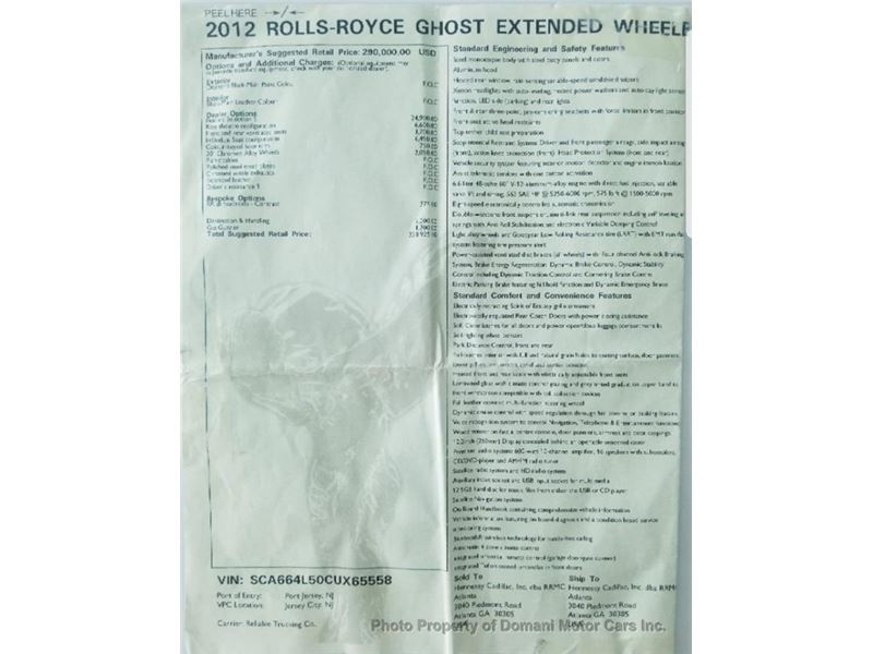 2012 Rolls-Royce Ghost Ewb for sale in for sale on GoCars