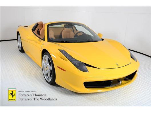 2014 Ferrari 458 Spider for sale in Houston, Texas 77057