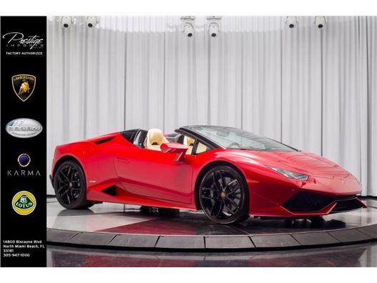 2017 Lamborghini Huracan Spyder for sale in North Miami Beach, Florida 33181