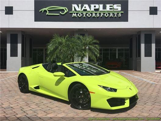 2017 Lamborghini Huracan Lp 580-2 Spyder for sale in Naples, Florida 34104