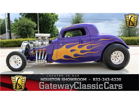 1934 Ford 3 Window for sale in Houston, Texas 77090