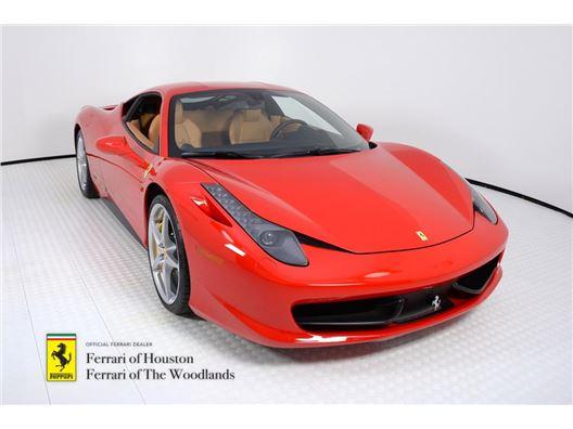 2013 Ferrari 458 Italia for sale in Houston, Texas 77057