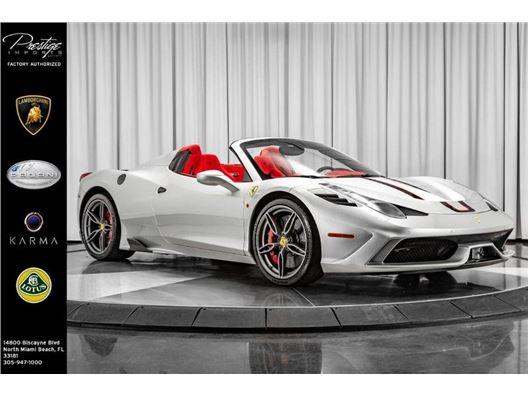 2015 Ferrari 458 for sale in North Miami Beach, Florida 33181