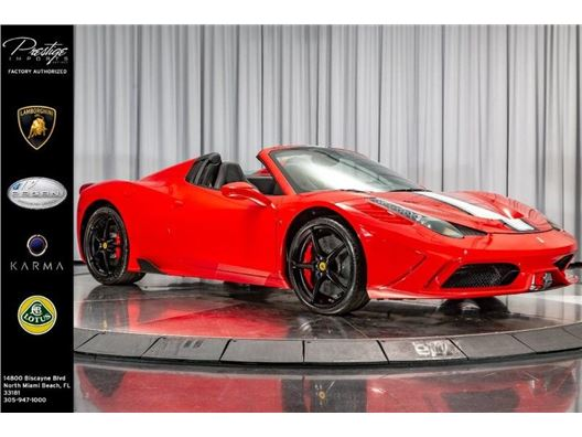 2013 Ferrari 458 Italia for sale in North Miami Beach, Florida 33181