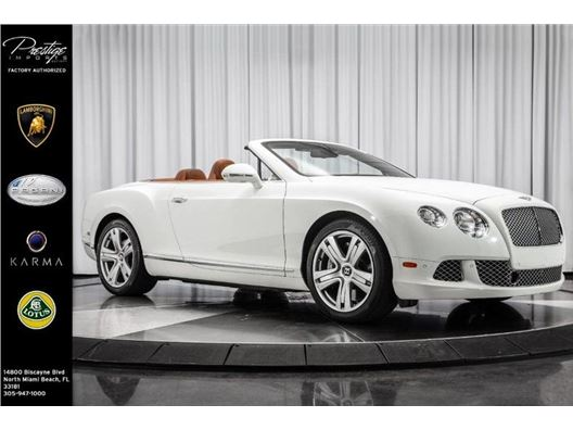 2013 Bentley Continental GT for sale in North Miami Beach, Florida 33181