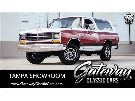 1986 Dodge RAMCHARGER AW-100 for sale in Ruskin, Florida 33570