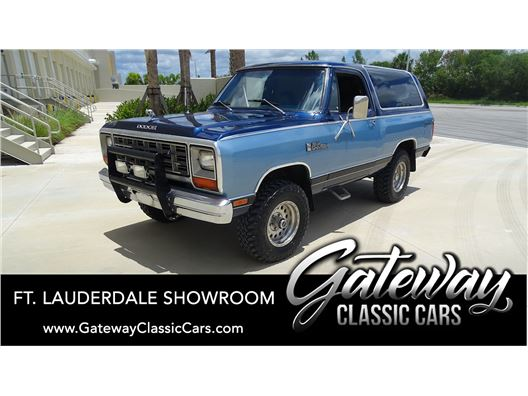1984 Dodge RAMCHARGER AW-100 for sale in Coral Springs, Florida 33065
