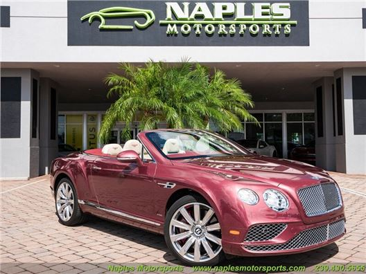 2016 Bentley Continental GT GTC Convertible for sale in Naples, Florida 34104