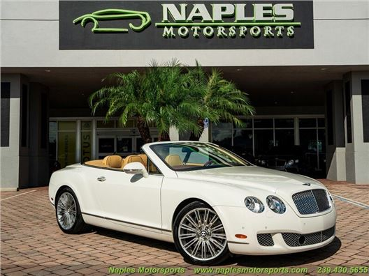 2011 Bentley Continental GT GTC Speed for sale in Naples, Florida 34104
