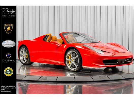 2015 Ferrari 458 Italia for sale in North Miami Beach, Florida 33181