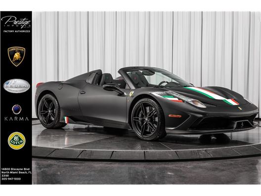 2015 Ferrari 458 Speciale Aperta for sale in North Miami Beach, Florida 33181