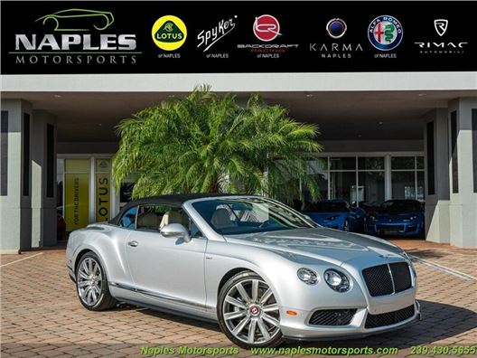 2015 Bentley Continental GT GTC V8 S for sale in Naples, Florida 34104