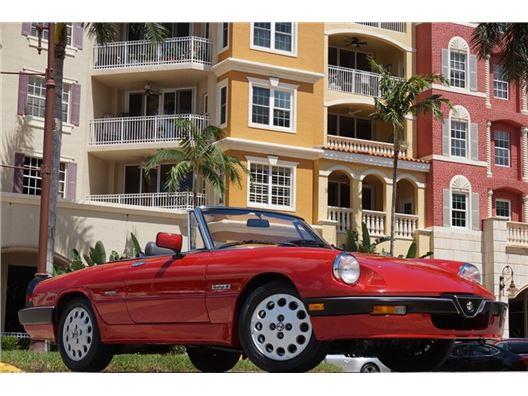 1986 Alfa Romeo Spider Veloce for sale in Naples, Florida 34104