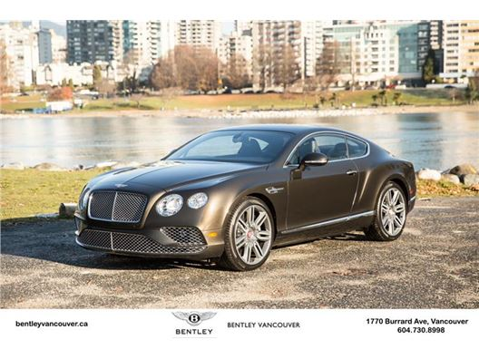 2016 Bentley Continental GT for sale in Vancouver, British Columbia V6J 3G7 Canada
