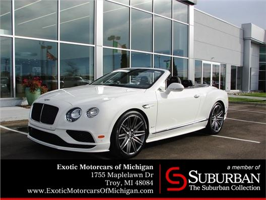 2017 Bentley Continental GTC Speed for sale in Troy, Michigan 48084