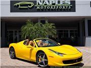 2014 Ferrari 458 Spider for sale in Naples, Florida 34104