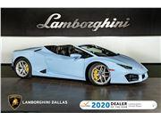 2019 Lamborghini Huracan LP580-2 Spyder for sale in Richardson, Texas 75080