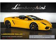2011 Lamborghini Gallardo 560-4 Spyder for sale in Richardson, Texas 75080